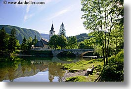 bohinj, churches, europe, horizontal, morning, slovenia, photograph