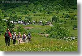bohinj, europe, hiking, horizontal, people, slovenia, walk, wildflowers, photograph