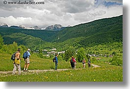 bohinj, europe, hiking, horizontal, mountains, paths, people, slovenia, walk, wildflowers, photograph