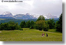 bohinj, europe, hikers, hiking, horizontal, mountains, slovenia, photograph