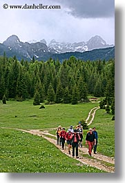 bohinj, europe, hiking, mountains, paths, people, slovenia, vertical, walk, photograph