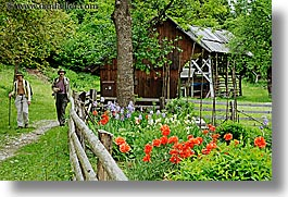 barn, bohinj, christie, europe, flowers, gardens, hiking, horizontal, people, slovenia, stuart, walk, photograph