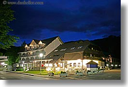bohinj, europe, horizontal, hotels, jezero, long exposure, nite, slovenia, photograph