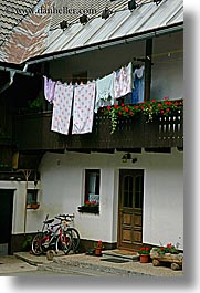 bikes, bohinj, europe, laundry, slovenia, vertical, photograph