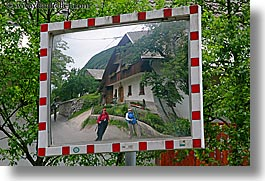 bohinj, europe, horizontal, mirrors, reflections, roads, slovenia, photograph