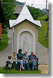 bohinj, europe, people, sitting, slovenia, vertical, photograph