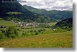 bohinj, europe, horizontal, mountains, scenics, slovenia, towns, wildflowers, photograph