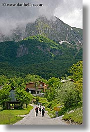 dreznica, europe, hikers, hiking, mountains, people, slovenia, vertical, photograph