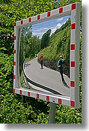 dreznica, europe, mirrors, people, slovenia, vertical, photograph