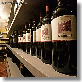 bottles, europe, ferdinand, hisa franko, red wine, slovenia, square format, wines, photograph
