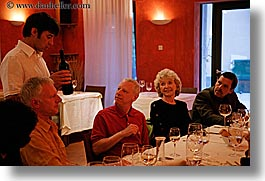 dining table, discussing, europe, hisa franko, horizontal, people, slovenia, valter, wines, photograph