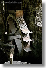 antiques, europe, krupa, slovenia, vertical, water, wheels, photograph