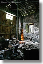 blacksmith, europe, fire, krupa, slovenia, vertical, photograph