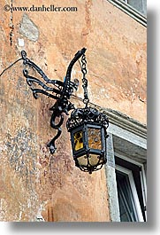 europe, hangings, krupa, lamps, slovenia, streets, vertical, photograph