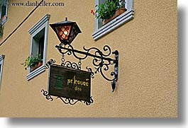 europe, hangings, horizontal, krupa, lamps, slovenia, streets, photograph