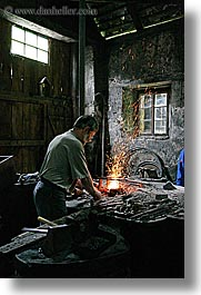 europe, irons, krupa, making, nails, slovenia, vertical, photograph