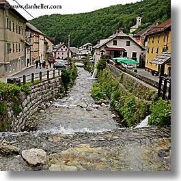 europe, krupa, slovenia, square format, stream, towns, photograph