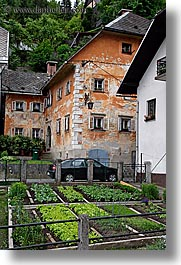 europe, gardens, houses, krupa, old, slovenia, vegetables, vertical, photograph
