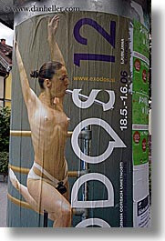 advertisement, arts, ballet, europe, ljubljana, posters, slovenia, vertical, womens, photograph