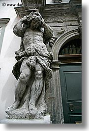 arts, europe, greek, ljubljana, sculptures, slovenia, statues, stones, vertical, photograph