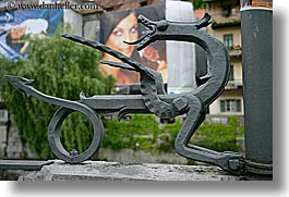 arts, dragons, europe, horizontal, irons, ljubljana, slovenia, photograph