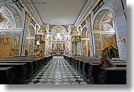 churches, europe, horizontal, ljubljana, pews, religious, slovenia, photograph