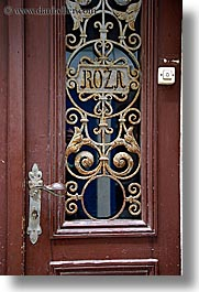 doors, europe, handle, ljubljana, roza, slovenia, vertical, photograph