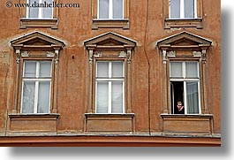 europe, horizontal, ljubljana, slovenia, smokers, windows, womens, photograph