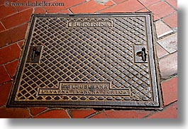 europe, horizontal, ljubljana, manhole covers, manholes, slovenia, photograph
