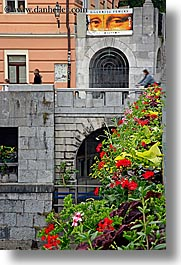 europe, eyes, flowers, ljubljana, mona lisa, slovenia, vertical, photograph