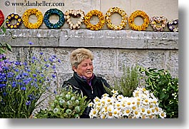 europe, flowers, horizontal, ljubljana, people, slovenia, vendors, womens, photograph