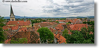 buildings, cities, cityscapes, europe, horizontal, ljubljana, panoramic, slovenia, towns, photograph