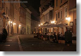 europe, horizontal, ljubljana, narrow streets, nite, slovenia, towns, photograph