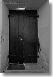 backlit, black and white, doors, europe, miscellaneous, slovenia, vertical, photograph