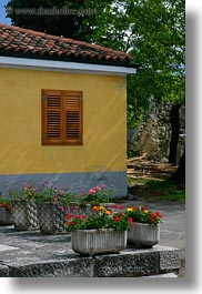 europe, flowers, houses, miscellaneous, slovenia, vertical, photograph