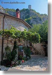 europe, houses, ivy, miscellaneous, slovenia, stones, vertical, photograph