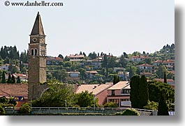 bell towers, buildings, europe, horizontal, pirano, slovenia, towns, photograph