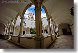 buildings, cloisters, europe, franciscan, horizontal, monastery, monestaries, pirano, slovenia, photograph