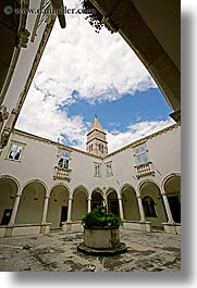 buildings, cloisters, europe, franciscan, monastery, monestaries, pirano, slovenia, vertical, photograph