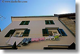 clothes, europe, hangings, horizontal, laundry, pirano, slovenia, windows, photograph