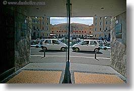 cars, europe, horizontal, mirrors, pirano, reflections, slovenia, photograph