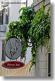 bars, europe, pirano, pyros, signs, slovenia, vertical, photograph