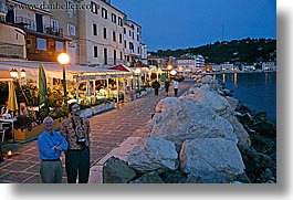coast, dusk, europe, horizontal, nite, pirano, restaurants, rockies, slovenia, slow exposure, water, photograph