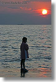 childrens, europe, girls, ocean, people, pirano, slovenia, sunsets, vertical, water, photograph