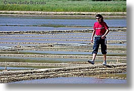europe, flats, horizontal, men, pirano, salt, salt flats, slovenia, walk, photograph