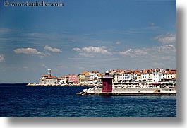 europe, from, horizontal, ocean, piran, pirano, shoreline, slovenia, views, water, photograph