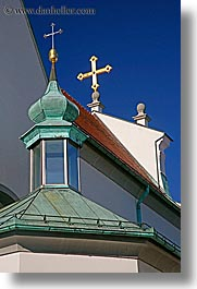 crosses, europe, ptuj, roofs, slovenia, vertical, photograph