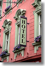 Europe Hotels Mitra Ptuj Signs Slovenia Vertical Photograph
