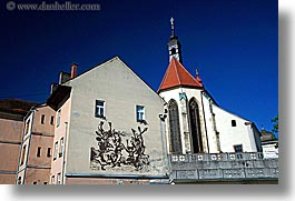 churches, europe, horizontal, murals, ptuj, slovenia, photograph