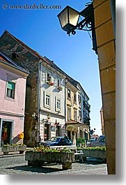 europe, lamp posts, ptuj, slovenia, towns, vertical, photograph